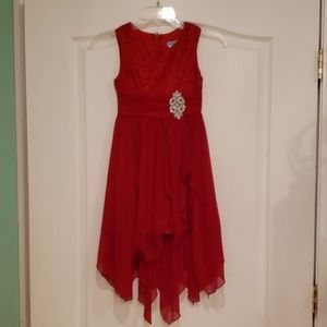 Red girls party dress with free gift